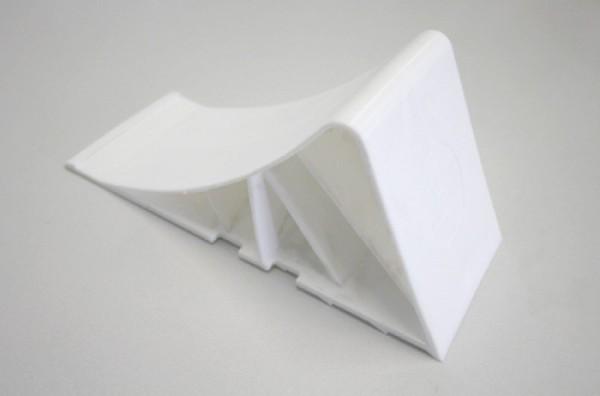 Unterlegkeil, B:90 mm, Kunststoff, weiß