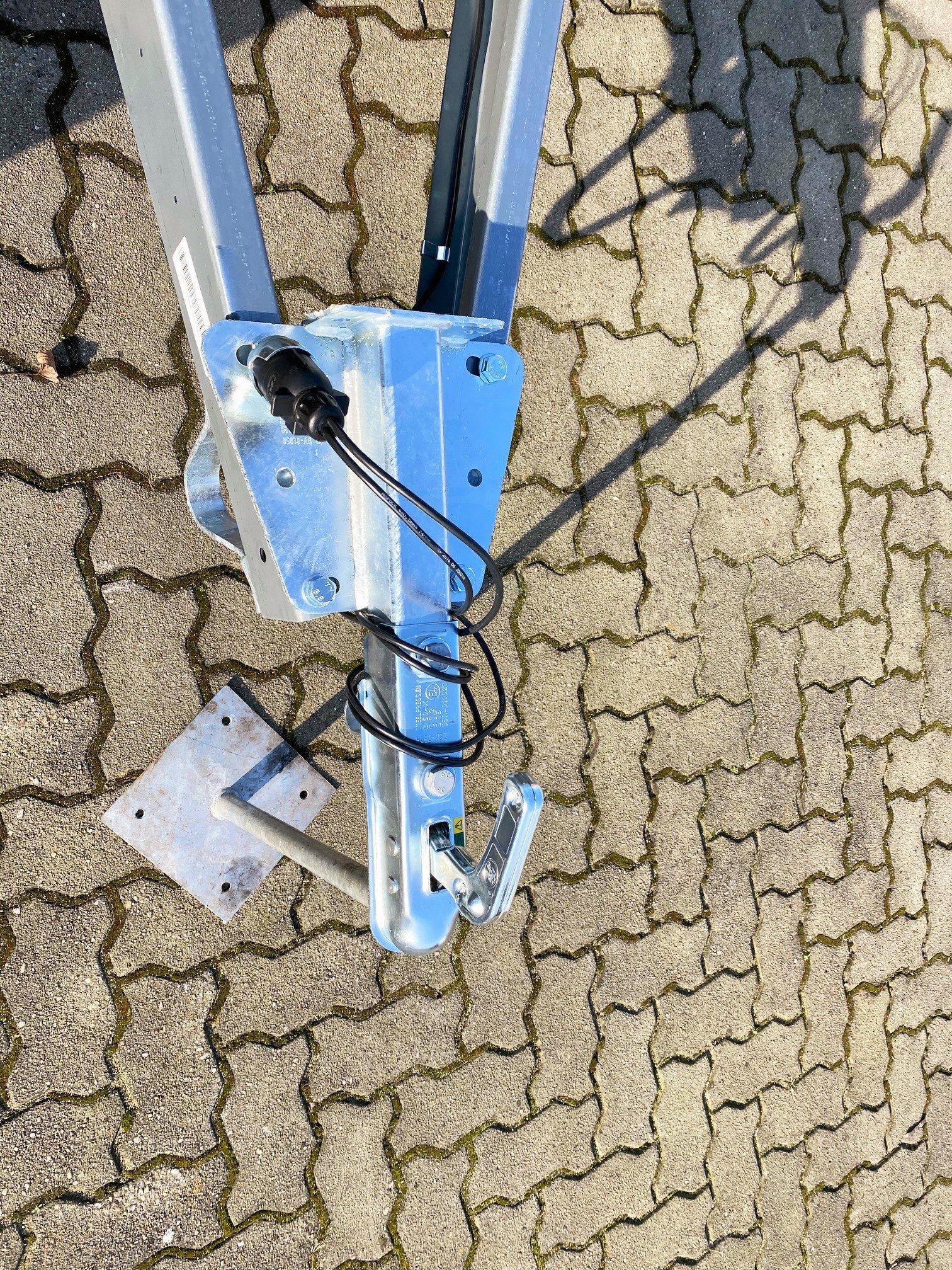 1x Exzenter Spannverschluss Stahl verzinkt 100-120mm verstellbar abschließbar