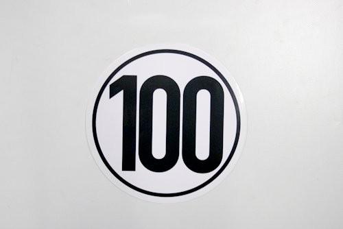 100 km/h Schild