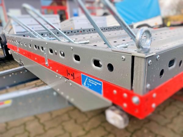vordere Lochprofil-Reling für Plattformanhänger = 183cm