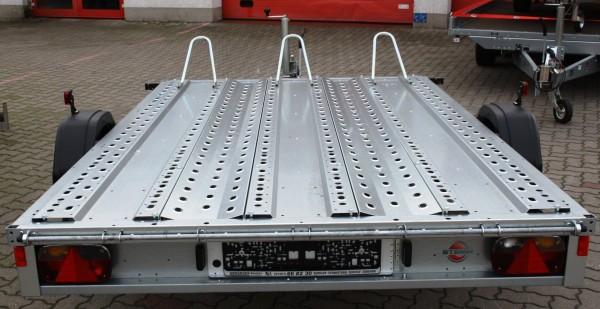 Motorradanhänger mieten 1500kg Plattformmaß 3070x1890mm