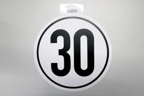 30 km/h Aufkleber