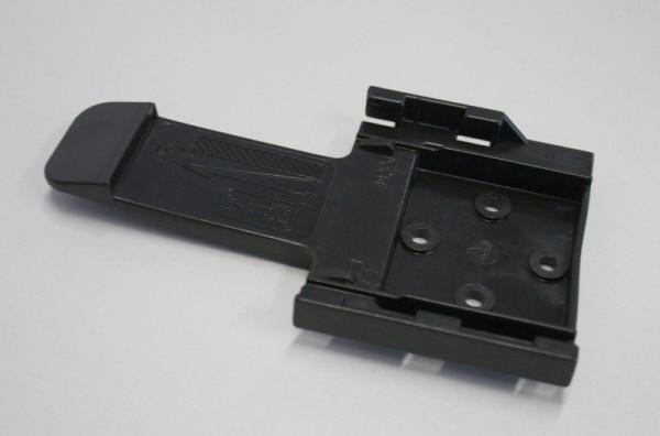 Halter für Unterlegkeil, B:90 mm, Kunststoff, schwarz