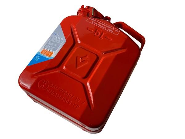 Benzinkanister 5 l, rot, Stahlkanister