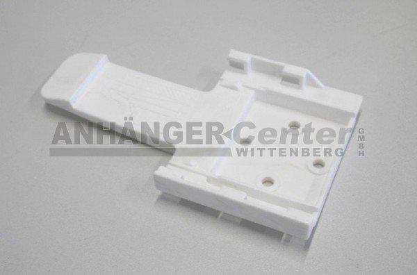 Halter für Unterlegkeil, B:90 mm, Kunststoff, weiß