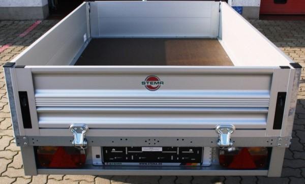 Stema Anhänger mit Alu Kasten 2.100 x 1.530 x 350 mm gebremst 850 kg