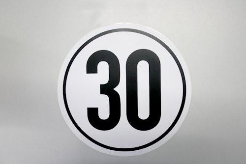 30 km/h Schild