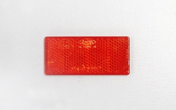 Rechteckrückstrahler, 69 x 31,5 mm, rot