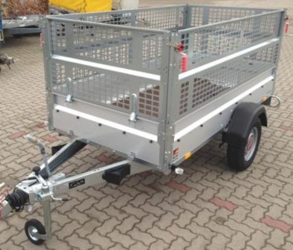 Stema STL 1300, Kastenanhänger 1300 kg + Laubgitter