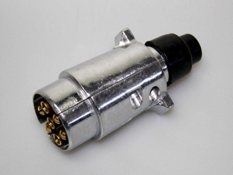 Stecker DIN14690 aus Metall für Feuerwehr THW Nutzfahrzeuge