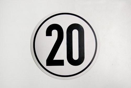 20 km/h Schild
