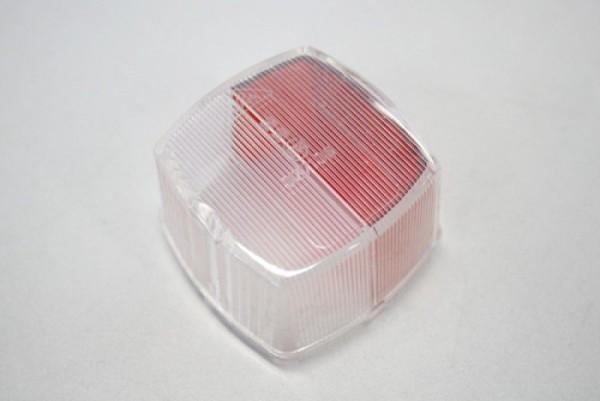 Squarepoint Umrissleuchte, rot/weiß, Lichtscheibe