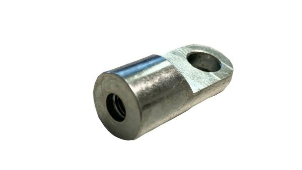 Schraubauge, flach abgefräst, für Gasfeder M6 5x28 mm