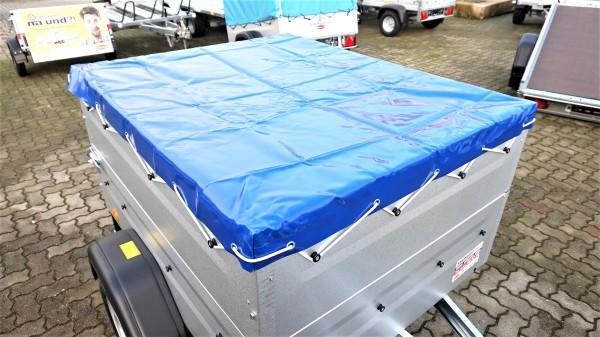 Flachplane TPV Anhänger EU0 in Blau