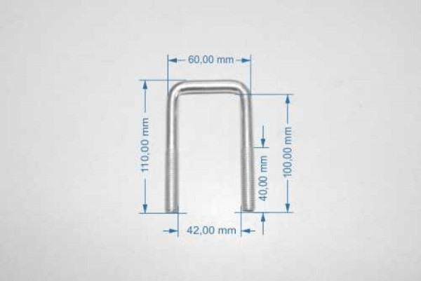 Bügelschraube M 10, 100 mm x 42 mm (BH x BW)
